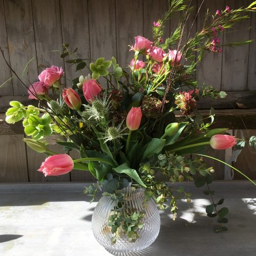 The Little Brick House | Decorative Home Accessories and Gifts | Flowers in Cut Glass Jar