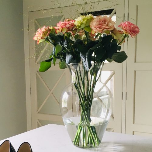 The Little Brick House | Decorative Home Accessories and Flower Displays | Roses in Glass Vase