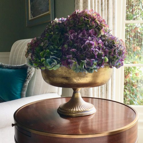 The Little Brick House | Decorative Home Accessories and Gifts | Gilt Vase and Flowers