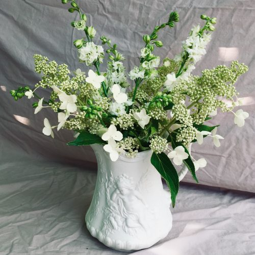 The Little Brick House | Decorative Home Accessories and Flower Displays | White Flowers in White Jug