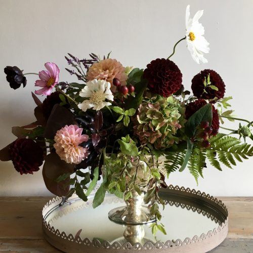 The Little Brick House | Decorative Home Accessories and Flower Displays | Flower Display on Silver Tray