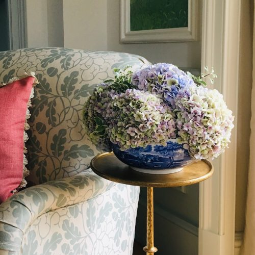 The Little Brick House | Decorative Home Accessories and Gifts | Flowers in Blue China Bowl