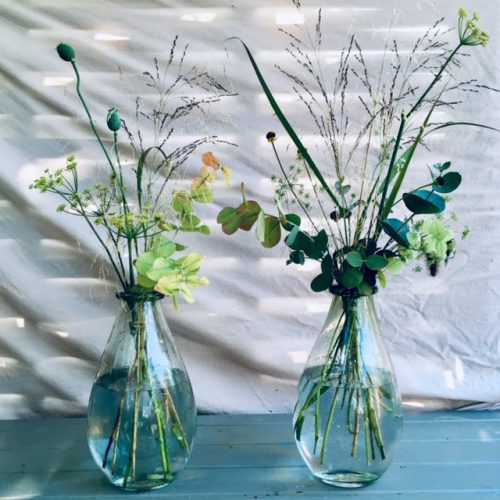 The Little Brick House   Decorative Home Accessories and Flowers   Two Glass Vases