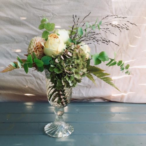 The Little Brick House | Decorative Home Accessories and Flowers | Flowers in Glass Goblet