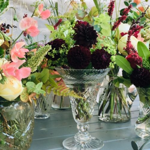 The Little Brick House | Decorative Home Accessories and Flowers | Flowers in Cut Glass Vases