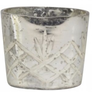 The Little Brick House | Decorative Home Accessories and Flowers | Silver tealight holder