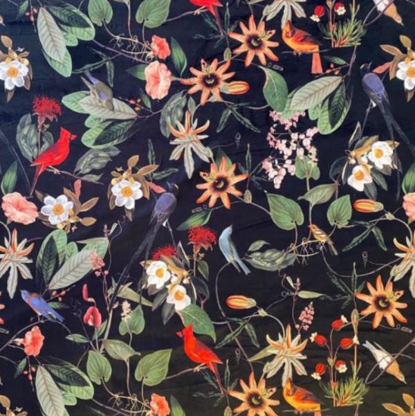 Velvet Floral fabric