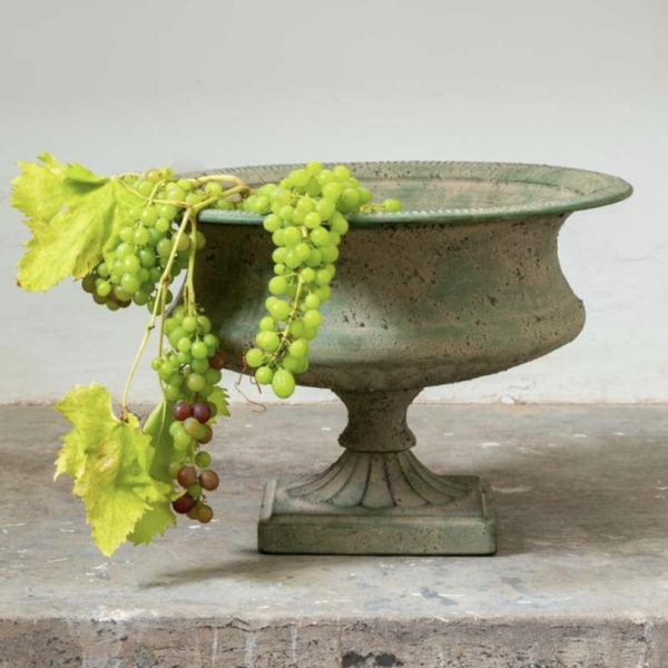 French Metal Urn Planter