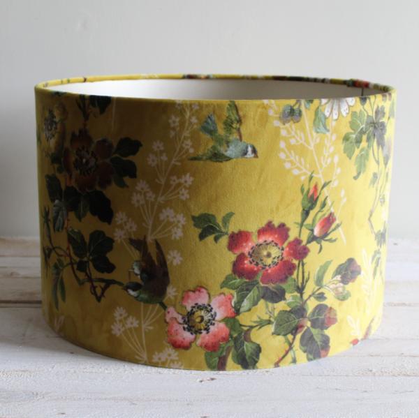 Velvet Lampshade Handmade