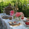 Peonies, Picnic Basket and Cabbage Bowls