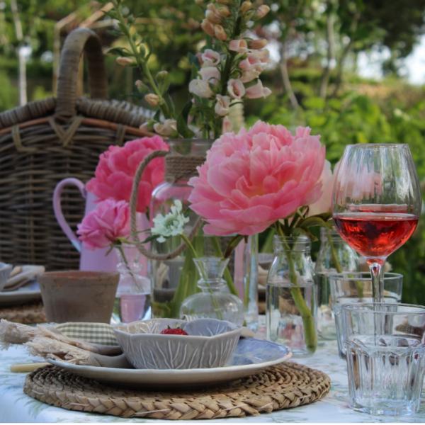 Summer Peonies & Rose