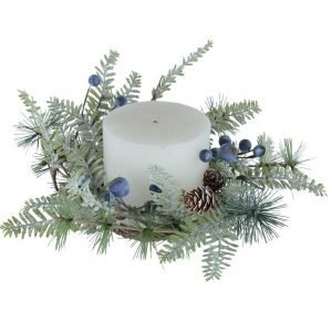 Winter Berry Candle Ring