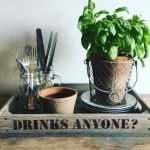 Rustic Drinks Tray