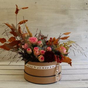 Autumn Hat Box Flower Workshop