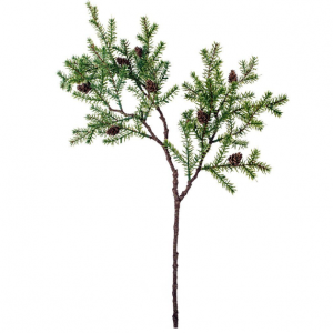 Faux Conifer Stem with Cones