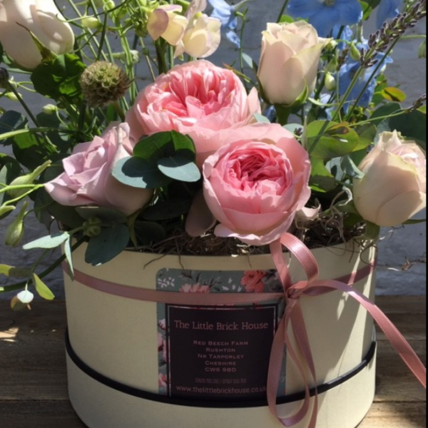 Hat Box Country Flowers