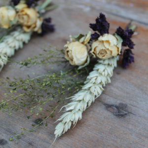 Autumn Meadow Dried Flower Buttonhole