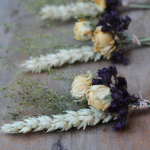 Autumn Meadow Dried Flower Buttonhole
