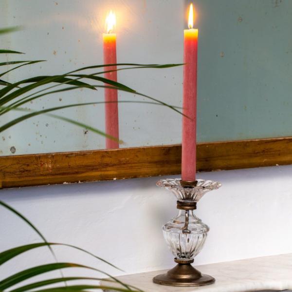 Glass & Gold Candlestick