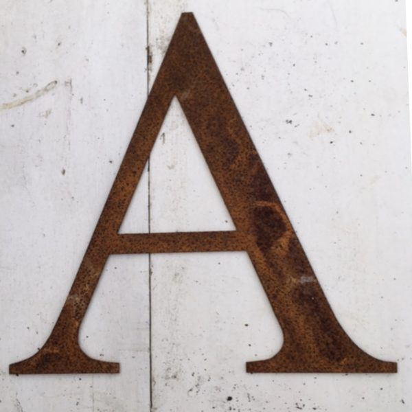 Rusty Metal Letters A