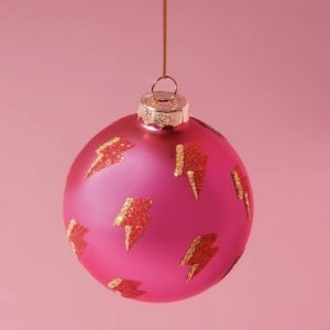 Hot Pink & Lightning Bauble