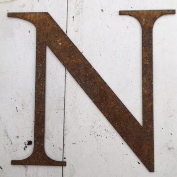 Rusty Garden Letters N