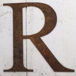 Rusty Garden Letters R