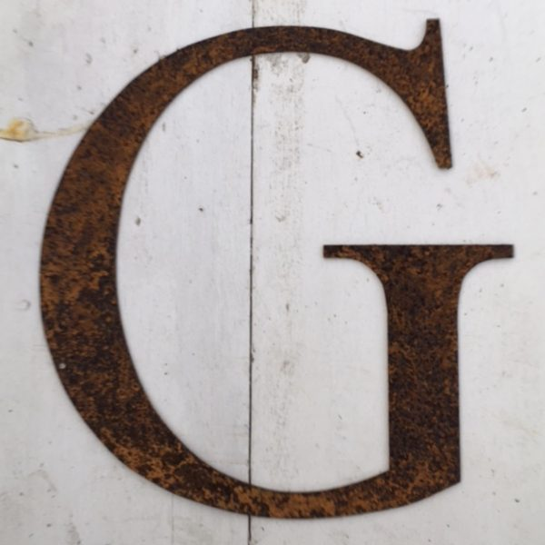 Rusty Metal Letters G