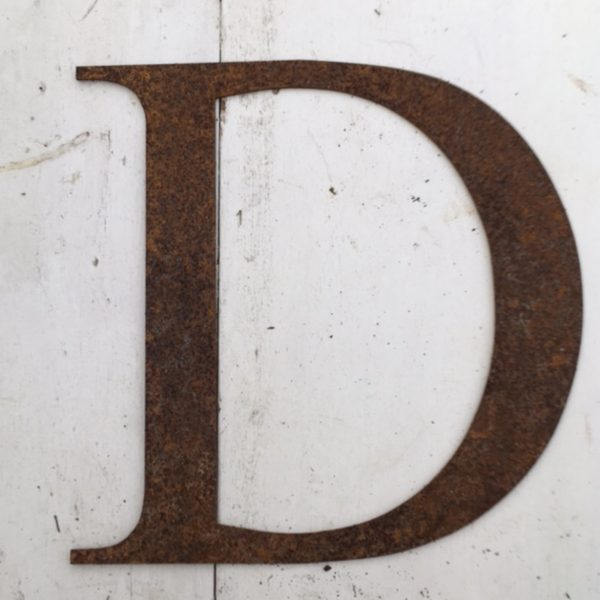Rusty Metal Letters D