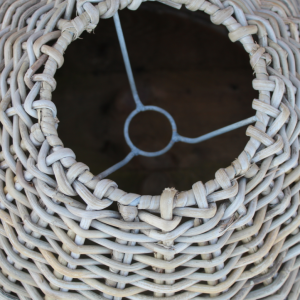 Large Cone Shaped Rattan Pendant Shade