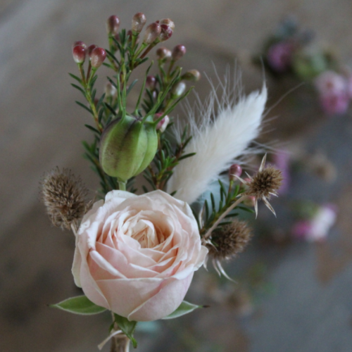 Autumn Buttonhole Wedding