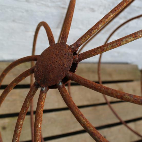 Rusty Metal Garden Sphere