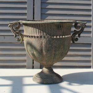 Aged Metal Urn