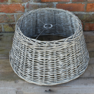 Whitewashed Rattan Pendant Shade