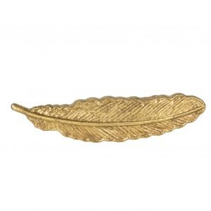 Golden Feather Drawer Knob