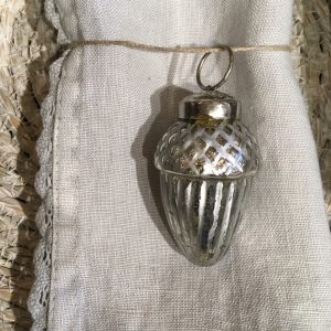 Silver acorn decoration