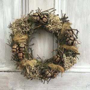 Rustic autumn wreath