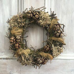Rustic autumn wreath