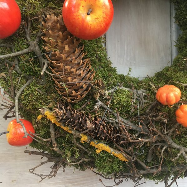 Moss and apple wreath