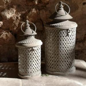 Moroccan Grey Lantern