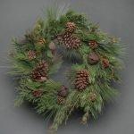 Pine & Bell Faux Wreath