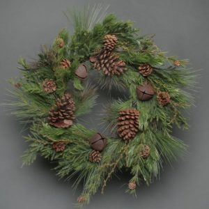 Pine & Bell Faux Wreath