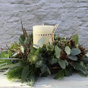Christmas Table Wreath 'Rustic'