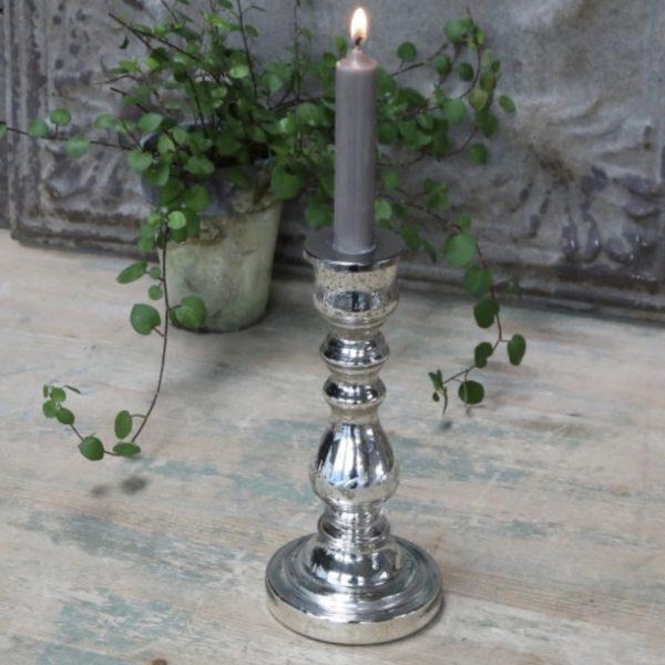 Silver Vintage Candleholder