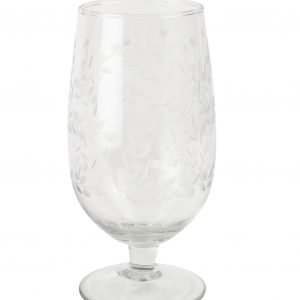Vintage Flower Wine Glass