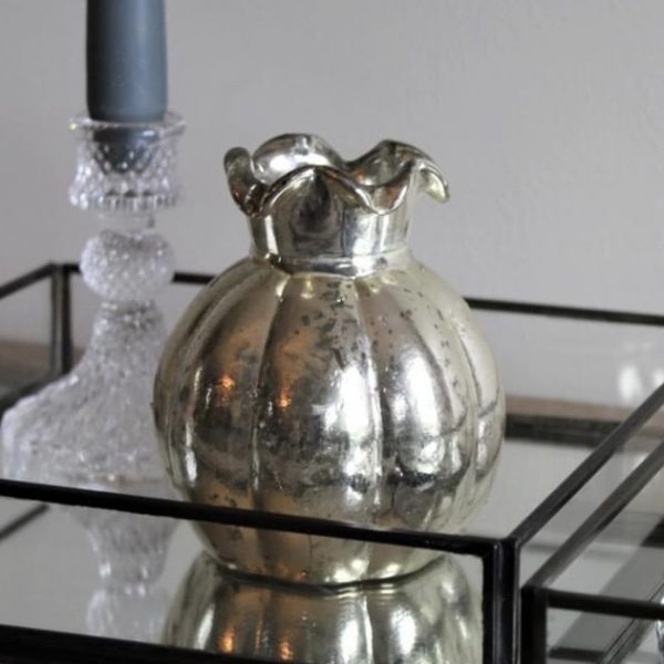 Silver Tulip Bud Vase