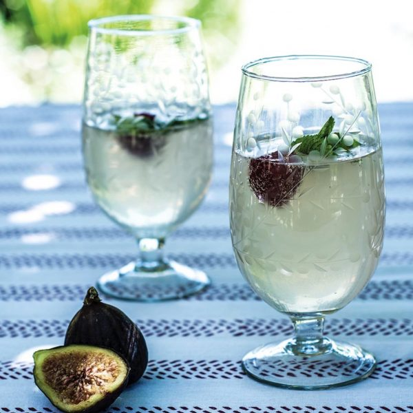 Vintage Flower Wine Glass