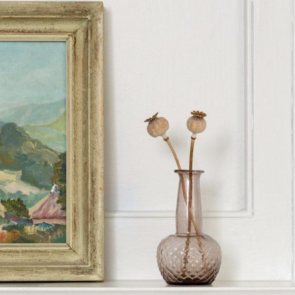 Amethyst Glass Bud Vase Tall