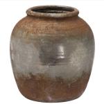 Aged Stone Vase Metallic