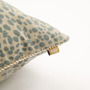 Animal Print Cushion Cheetah Blue